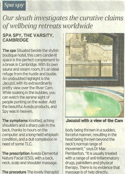 The Varsity Hotel Cambridge - Press Pages